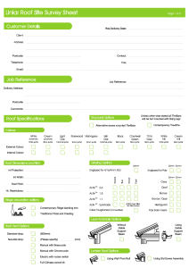 Survey Sheets Liniar