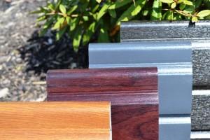 Liniar uPVC woodgrain effect fencing