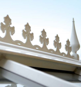 uPVC conservatories cresting and finials