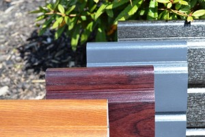 Liniar uPVC woodgrain effect fencing